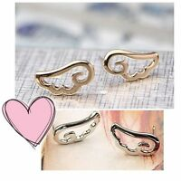 Cute Gold Silver Hollow Angel Wing Cloud Fashion Stud Earrings wings butterfly