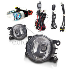 Fit 2005-2015 Ford Mustang Bumper Fog Lights w/Wiring Kit & HID Kit - Clear