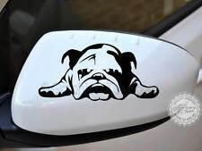 Lindo British Bulldog Cachorro Etiqueta Auto Espejo Retrovisor calcomanía auto Gráfico De Vinilo X2