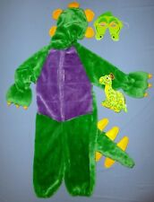 PLUSH DINOSAUR COSTUME CHILD 4-6 DRAGON CROCODILE  MASK HALLOWEEN SOFT TOY LOT