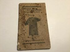 Amateur Fly Tyer's Dictionary By J.E. Willmarth Fly Fishing 1910s Booklet