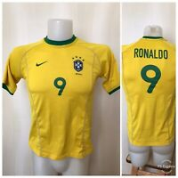 Brazil national team #9 Ronaldo 2010/2011 Home Boys L Nike shirt jersey Brasil