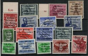 GERMANY 1940s TOBRUK & MANY MORE OVPT STAMPS -CAG 040421