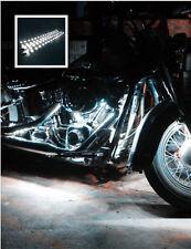 4X White 12V 30Cm 15SMD LED Waterproof Flexible Strip Light For Harley-Davidson#