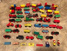 BRIO Lot Of 58 PCS Wooden Wood Train Engine Truck Cargo Accessories People