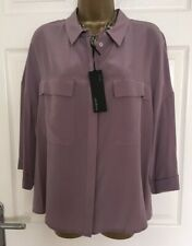 MARKS & SPENCER AUTOGRAPH PURE SILK RELAXED FIT 3/4 SLEEVE SHIRT  SIZE 18 BNWT