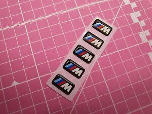 BMW M Sport Badge Alloy Wheel stickers M Sport -  17mm x 9mm - 5 pcs