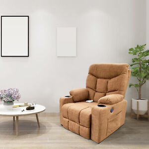 Electric Power Massage Lift Recliner Chair Cup Holder Lounge Sofa Elderly Couch