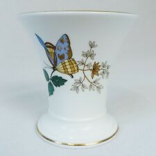 WEDGWOOD Charnwood Bone China Vase Decorated with Flowers & Butterfly.