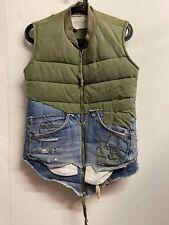 Greg Lauren Vintage Denim Quilted Flight Vest 2016 Rare Sz 2 MINT ARMY Indigo
