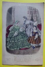 B1 - gravure mode Magasin des demoiselles - Anaïs Toudouze Desjardins - 1858