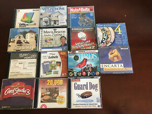 Lot Of 14 CD's PC Software Reference Fonts Labels Microsoft Office 2000 Typing