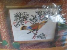 "1979 Creative Circle Winter Bird Needlepoint Kit Nip Nos unused 8x10"" #1416 Vtg"