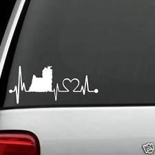 K1031 Yorkie Yorkshire Terrier Heartbeat© Lifeline Monitor Decal Sticker Truck