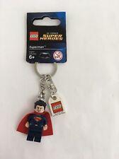 LEGO Superman Minifigure # 853590 DC Comics Key Chain Dawn Of Justice 2016