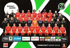 Postkarte Sammler + Hannover 96 + Das Team Saison 2015/2016 + Offizielle Edition