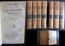 OEUVRES DE J.J ROUSSEAU - CITOYEN DE GENEVE - 7 / 8 tomes -1817