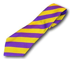 School Uniform Ties - Broad Stripes - Many Colour Combinations - Adult Length