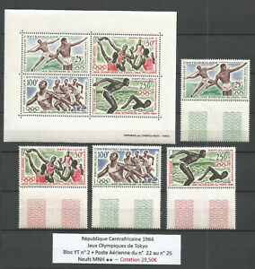 Central African Republic 1964 - Olympics Games Tokyo - MNH ** 29,50€ - (#1)