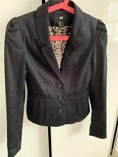 H&M Black Blazer Suit Jacket Size 6-8