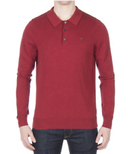 BEN SHERMAN® Long Sleeve Polo/Chilli Marl - Extra Large  SALE SRP £60.00