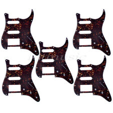 5pcs Guitar Pickguard Scratch Plate for Fender Strat Parts Tortoise Shell HSS