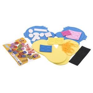 Kindergarten Cartoon Animal Kitten Tiger Making Material Package Kits Kids Craft