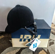 New - International Riding Helmet Black Velvet 1072-1465 Pro Rider Size 6 5/8
