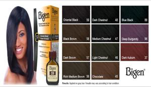 Bigen Permanent Powder Hair Colour Black Brown New Formula No Ammonia