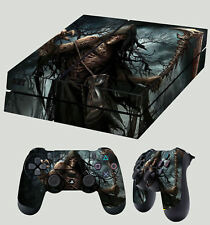 PS4 Skin Grim Reaper 02 Darker Angel Of Death Gothic Skull Sticker + Pad Skins