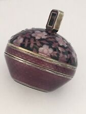 Small Antique Beautiful Enamel Pendant / Ball Watch