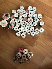 Lot of Vintage Wooden And Styrofoam Sewing Thread Spools