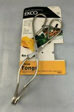 """New listing New Nip Ekco Usa Tongs Non-slip Jaws Cooking Serving Barbecuing Serving Metal 8"""""""