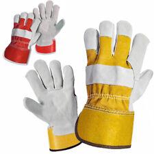 Real Leather Working Gloves / Rigger / Gardening / Work Gloves STANDARD Size