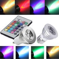 GU10 E27 16 changement de couleur Ampoules LED RGB Lampe Télécommande FRA FCP
