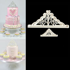 2pcs Crown Plastic Fondant Cutter Cake Mold Fondant Cupcake Decorating Tools