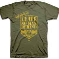 Mens Christian T-Shirt LEAVE NO MAN BEHIND ALL by Kerusso BRAND-NEW