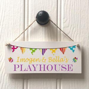Fun Playhouse Door Sign - Handmade Childs Playhouse Sign - PERSONALISED