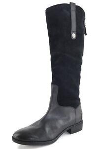 Sam Edelman Pembrooke Black Suede Leather Knee High Boots Womens Size 6.5 M*