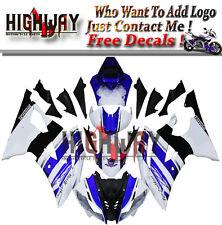 Fairings Fit Yamaha YZF 600 R6 2008-2015 YZF R6 Fairing Kit Bodywork White Blue