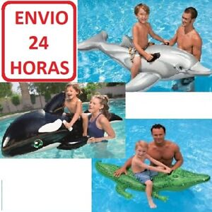 FLOTADOR ORCA DELFIN COCODRILO HINCHABLE GRANDE PISCINA ENVIO 24 HORAS