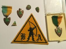 Vintage B&A Archery Patch and Medals