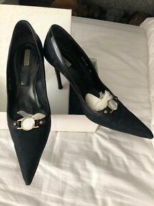 Ladies Black Versace Shoes, Size 7