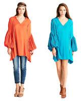 VELEZRA Womens Plus Boho Crochet Bohemain Long Ballon Sleeve Dress 1X 2X 3X