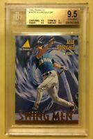 1995 Pinnacle Alex Rodriguez Swing Men Baseball Card 283 Graded BGS 9.5 GEM MINT