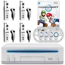Nintendo Wii Konsole Mario Kart Spiel 4x Remote 4x Nunchuk 4xLenkrad Komplettset