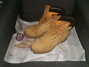 Timberland Premium Men's Ankle Boots, Size 10.5 - Yellow