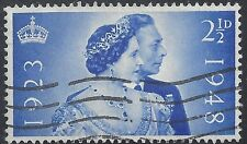 "Great Britain Stamp - Scott #267/A109 1 1/2p Brt Ultra ""George VI"" Canc/LH 1948"