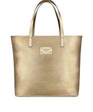 Michael Kors Women Parfums Gold Tote Bag Weekender Purse Handbag . Nwt