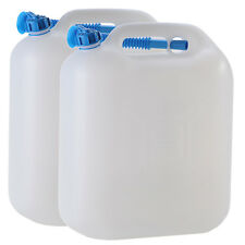 2x Wasserkanister ECO 20 Liter mit Rohr 2er Set Camping-Kanister Wassertank NEU